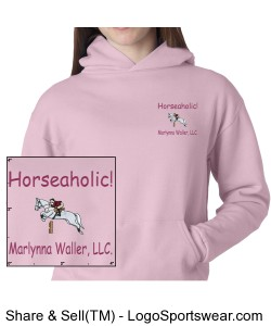 Horseaholic, Youth, Hoodie Design Zoom