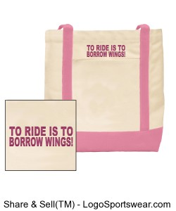 To ride is to borrow wings, bag Design Zoom
